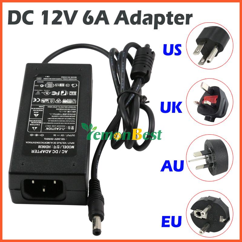 12V 6A adaptador AC/DC Po