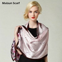 New 2013 autumn summer 100 Silk scarf wraps 170x52cm crepe satin scarves big size hijabs floral pashmina shawls