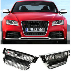 Chromed ABS Auto Car Front Grill Grille for Audi A5 RS5 with parking sensor for standard Audi A5 2D 4D bumper (2011-2012 )(China (Mainland))