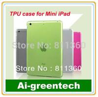 Soft Silicone Rubber TPU Case Cover For Mini Ipad, Accessories for mini ipad. Wholesale,Free Shipping.