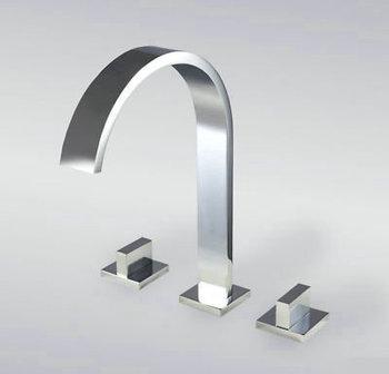 Nice Newly 3Pcs Set Bathroom Basin Kitchen Sink Mixer Tap Faucet AD-1234