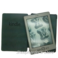Promotional !! Amazon Cover Leather case Cover Fashion Leather Pouch Case For Amazon Kindle 4 ebook,Free Shipping,10 Pcs/lot