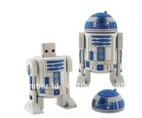 Free Shipping Star War R2-D2 USB 2.0 Flash Drive Full Capacity