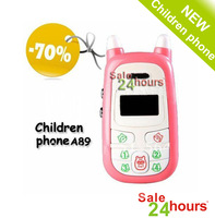 Free shipping Children phone, A89 distant care,children security phone,Children safety monitor phone retail package