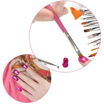 1set/15Pcs Cosmetic Nail Art Polish Painting Draw Pen Brush Tips Tools Set UV Gel Worldwide FreeShipping