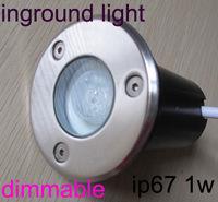 Recessed floor light led dimmable, inground light led dimmable,underground led IP67 with dimmer 1W 12V 24V 110V 220V