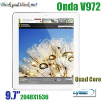 Onda V972 9.7 Inch Android 4.1 Retina Tablet PC Allwinner A31 Quad Core 2GB 16GB HDMI Dual camera