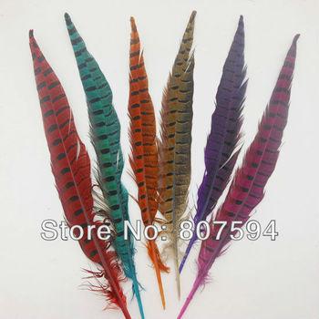 "wholesale  100pcs/lot long 30cm 12"" natural DIY pheasant tail feather feathers Hair extension centerpieces wedding"