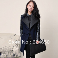 Free Shipping Winter fashion Jacket Womens  Wool & Blends outerwear & coats & Jackets women 2013 New Plus size M  L XL XXL