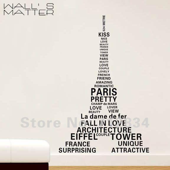 [B Z D] Free Shipping Paris Eiffel Tower Printing Art