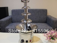 Christmas Eve Sales 4 Layers Chocolate Fountain Machine Stainless Steel 12 Month Warranty Retails and Free Shipping#CF-0205