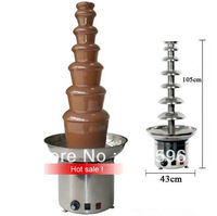 Christmas Eve Sales 7 Tiers Commercial Chocolate Fountain Machine Stainless Steel 12 Months Warranty Free Fedex Shipping