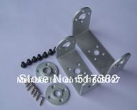 Free shipping 5 set/lot Robot servo spare parts: Metal U holder + round servo mount Bracket 25T servo arm
