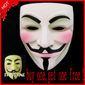 Free shipping Resin V for Vendetta Anonymous Guy Fawkes Mask Halloween Mask ( White and Bronze )
