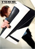 women's clutch free shipping fashion evening bag women handbag high quality 2013 new arrival trend mark black red brown