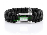 Stainless steel buckle Metal U Clasp paracord survival bracelet total length: 9-10inch 50pcs