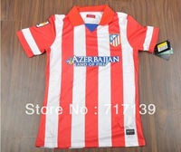 Free shipping 1314 season Atletico Madrid best thai quality short sleeve soccer football jerseys