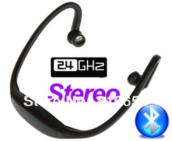 Free Shipping Sports Wireless Bluetooth Stereo Headset for iPhone Earphone Headphone for Mobile Phone PC Accessories-Stereo(China (Mainland))