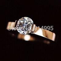 rose/silver  promise rings,titanium steel vintage jewelry