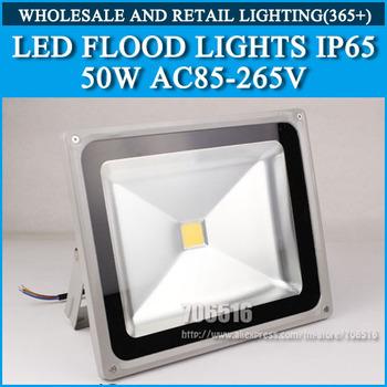 Wholesale 5PCS LED Floodlight 50W IP65 AC85-265V Cold white/warm white Free shipping