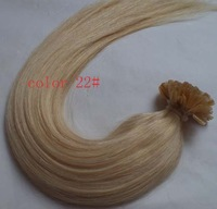"18"" 20"" 22"" 22# Ash Blonde Color Keratin Hair Nail U Tip Hair PreBonded Human Hair Extensions Indian Remy 1g/s 100g/lot AAA"