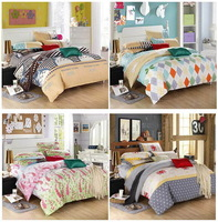 Home textile,Reactive Printed 4Pcs/3Pcs bedding set  include Duvet Cover Bed sheet Pillowcase, King ,Full size