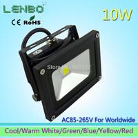 AC85V-220V 10W Warm White floodlight LED Flood Light Outdoor Lights black case High Power IP65 110V 220V 240V Blue Red LW1