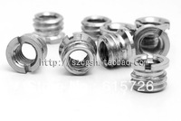 "wholesale 100pcs 1/4"" to 3/8""  Convert Screw Adapter for Tripod free shipping + tracking number"