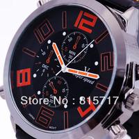 New watches-Men Orange Numerals designer Fashion V6 Sport Quartz Wrist Watches,Free Shipping