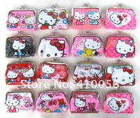 Cute Lady/Girl/ Women Hello Kitty Coin Purses Wallet Wallets Bag Case 24 Pcs