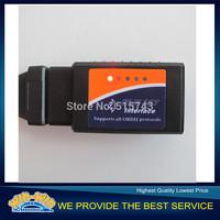 [Big Sale] High Quality Black Color elm327 V2.1 bluetooth ELM 327 OBD2 OBD II car diagnostic scanner for Android enough stock