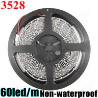 Big Promotion 3528 300led 5M LED Strip Flexible light 60led/m no-waterproof  DHL SHIPPING