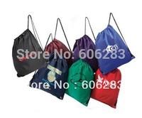 Drawstring shopping bag with buyer logo printing