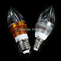 5PCS E27 3W AC85~265V white/ wam white LED Candle Light with candle light shape cover pendant lamp lighters