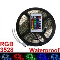 5m 12v RGB led strip 3528 Waterproof white smd 3528 300leds flexible strip 3528 60 led /m strip light warm cool white for car s1