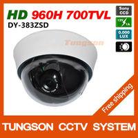 New 2014 Genuine HD Sony 960H CCD Sensor Effio 700TVL Security CCTV Camera 0.001LUX OSD Menu Indoor Dome Video Surveillance