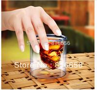 4Pieces Doomed Crystal Skull Shot Glass/Crystal Skull Head Vodka Shot Glass (2.5 ounces),Free Shipping