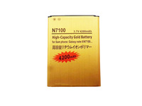 New arrival High capacity 4200mAh replacement gold battery for Samsung Galaxy Note 2 N7100 100pcs wholesale free shipping