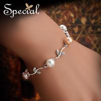 Special Romantic Natural Charm Bracelets Free Shipping S925 Strand Bracelets SL12A1120