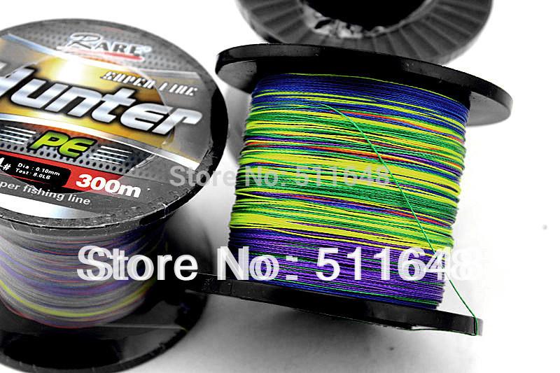 Free Shipping Multicolor 300M/PCS Spectra Dyneema Braid Fishing Lines 10,15,20,25,30,35,40,45 50 60 70 80 90LB