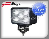 High power 50W heavy duty auto CREE LED work lights for ATV,UTV, off-road vehicles,Excavator,Trucks,Mining Machine