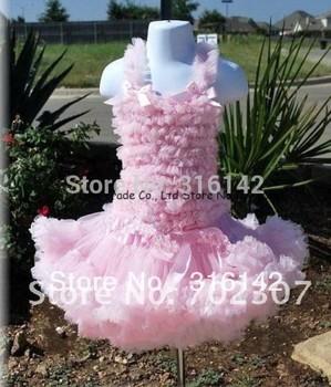 2015 New retail children Petti skirt princess dress  chiffon skirt  Tutu set , skirt set    1 set= top+skirt pink