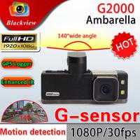 2013 Clearance Price G2000 1080P Full HD Car DVR Recorder With 2.0 LCD 5MP Sensor H.264 G-Sensor Car Black Box Freeshipping