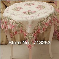 No.315-1 embroidery fabric tablecloth rectangle wedding tablecloths wedding table cloths home textiles dining room 85*85cm