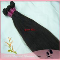 "Mixed Length 14""-28"" 4pcs/lot Real Natural Hair Extension, Straight Natual Black, Chocolate Color Hair Weft, Free Shipping"