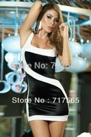 Free Shipping, Dresses New Fashion 2014 , Sexy and Club Evening Dress, Innovative Items ,Mini Striped Dress