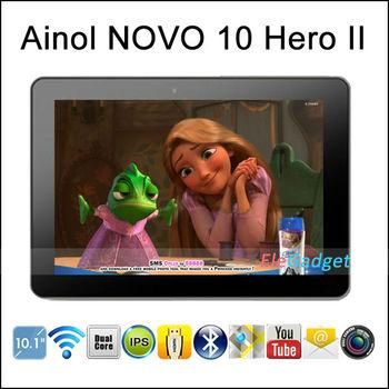 "In Stock !10.1"" Aino Hero II Ainol Novo 10 Hero II 1280x800 IPS Quad Core Android 4.1 1GB/16GB Bluetooth"