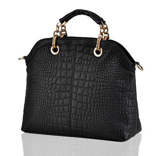 2014 HOT brand Crocodile composite genuine cow leather women leather handbag business work chain big bag 86230