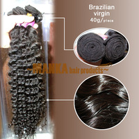 "Free Shipping!  12""-28""  curly  100%  Brazilian virgin human hair   40g=1.4oz/pc  1pc/lot  DIH hair"