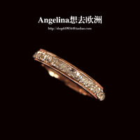 FREE SHIPPING~New Jewelry Titanium 18k Rose Gold Plated with HI-Q Austria Shinning Crystal Queen Elegant Ring